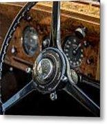 Vintage Steering  Metal Print