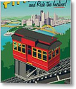 Pittsburgh Poster - Incline Metal Print