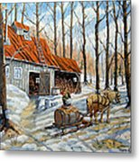 Vintage Sugar Shack By Prankearts Metal Print