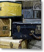 Vintage Suitcase Metal Print