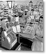 Vintage Supermarket Vintage #04 Fine Art Print Metal Print by Retro Images Archive