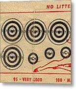 Vintage Target Card Metal Print