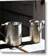 Vintage Tin Cups Metal Print