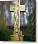 Vintage Tombstone Cross Metal Print