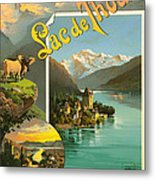 Vintage Tourism Poster 1890 Metal Print by Mountain Dreams