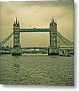 Vintage Tower Bridge Metal Print