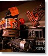 Vintage Toy Trains Metal Print