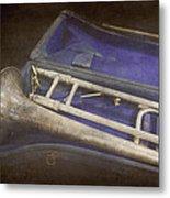 Vintage Trombone Metal Print