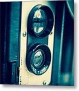 Vintage Twin Lens Reflex Camera Metal Print by Edward Fielding