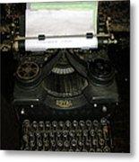 Vintage Typewriter Mechanical Metal Print
