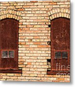 Vintage Urban Brick Building - Salt Lake City Metal Print
