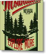 Vintage Vector Of Wilderness And Nature Metal Print