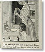 Vintage Victorian Soap Advert Metal Print