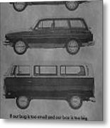 Vintage Volkswagen Ad 1971 Metal Print