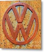 Vintage Volkswagen Bus Logo Metal Print