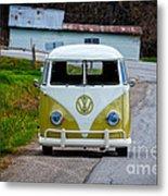 Vintage Volkswagen Bus Metal Print