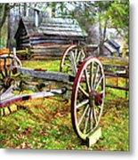 Vintage Wagon On Blue Ridge Parkway I Metal Print
