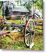 Vintage Wagon On Blue Ridge Parkway II Metal Print