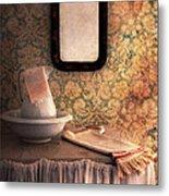 Vintage Wash Basin And Pitcher Metal Print