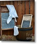 Vintage Washboard Laundry Day Metal Print