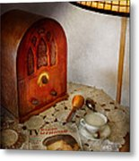 Vintage - What's On The Radio Tonight Metal Print by Mike Savad