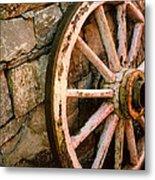 Vintage Wheel Metal Print