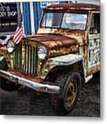 Vintage Willy's Jeep Pickup Truck Metal Print