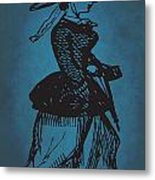 Vintage Women Color Art 1 Metal Print