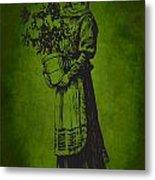 Vintage Women Color Art 13 Metal Print