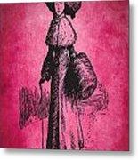 Vintage Women Color Art 72 Metal Print