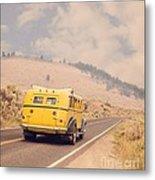 Vintage Yellowstone Bus Metal Print
