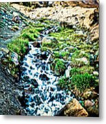 Vintaged Mount Hood Postcard Metal Print