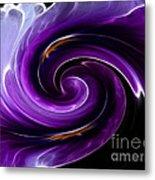 Viola Swirl Metal Print