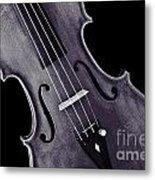 Viola Violin Photograph Strings Bridge In Sepia 3263.01 Metal Print
