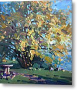 Viola Walking In The Park Metal Print