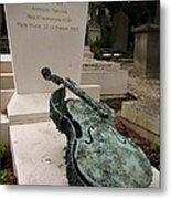 Violen Sculpture In Pere Lachaise Cemetery Metal Print