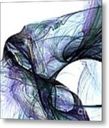 Violet Angel Rising Metal Print