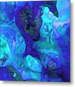 Violet Blue - Abstract Art By Sharon Cummings Metal Print
