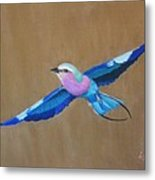 Violet-breasted Roller Bird II Metal Print