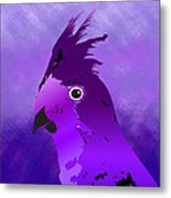 Violet Cockatiel Metal Print