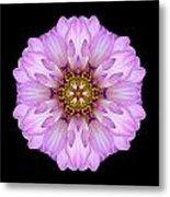 Violet Dahlia II Flower Mandala Metal Print