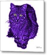 Violet Feral Cat - 9905 Fs Metal Print
