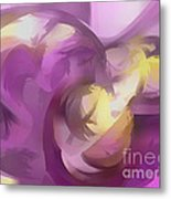 Violet Summer Pastel Abstract Metal Print