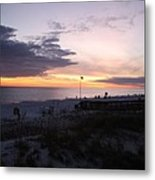 Violet Sunset Over The Sea Metal Print