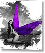 Violet Wings Metal Print
