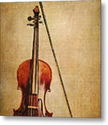 Violin With Bow Metal Print