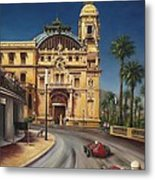 Virage De Massenet - 1959 Grand Prix De Monaco Metal Print