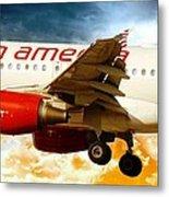 Virgin America A320 Metal Print