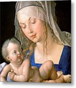 Virgin And Child Holding A Half-eaten Pear, 1512 Metal Print