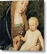 Virgin And Child With Pomegranate Metal Print by Hans Holbein the Younger